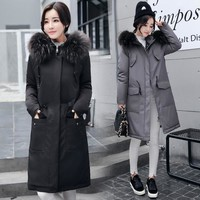 Winter Women Coat 2017 Parka Womens Hooded Coat Woman Clothes Fur Coats Female Winter Jacket Women High Quality