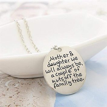 "Mother & Daughter ""We Will Always Be the Family Tree"" Pendant Necklace"