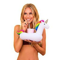 Mini Unicorn Drink Holder Pool Inflatable