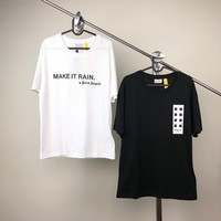 """""""Moncler Genius x Palm angels"""" Unisex Loose Casual Simple Letter Print Couple Short Sleeve T-shirt Top Tee"""