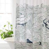 Elisa Cachero Odyssey Shower Curtain | Urban Outfitters