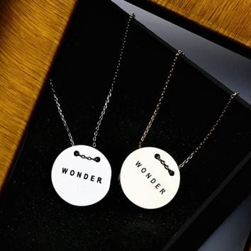 wonder unique simple necklace lover gift beautiful gift box 2