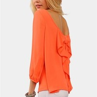 Waldorf Bow Blouse - Coral