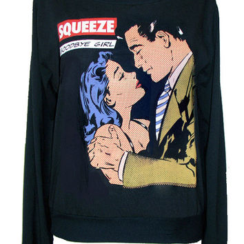 Squeeze 1970 Punk Rock New Wave Pop Art Jumper