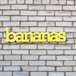 BANANAS recycledwood sign 30x7 by WilliamDohman on Etsy