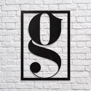 Letter G - Wall Decor