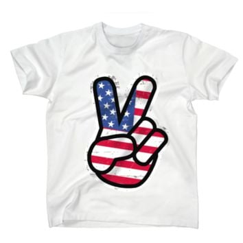 AFONiE US Peace Sign Kids T-Shirt
