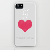 YOU MAKE MY HEART SING iPhone Case by Allyson Johnson