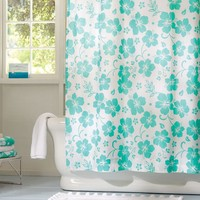 Hibiscus Organic Shower Curtain