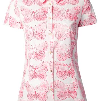 Red Valentino Butterfly Print Blouse