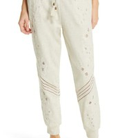 Love Sam Papillon Embroidered Sweatpants | Nordstrom