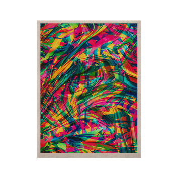 """Danny Ivan """"Wild Abstract"""" Rainbow Illustration KESS Naturals Canvas (Frame not Included)"""