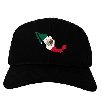 Mexico Outline - Mexican Flag Adult Dark Baseball Cap Hat by TooLoud