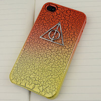 Deathly Hallows Harry Potter Colour  Hard Case for iPhone 4 Case,4g,4gs
