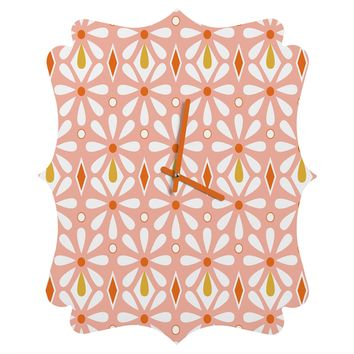 Heather Dutton Fleurette Radiant Quatrefoil Clock