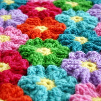 Blanket Crochet Pattern, Waikiki Wildflower Colorful