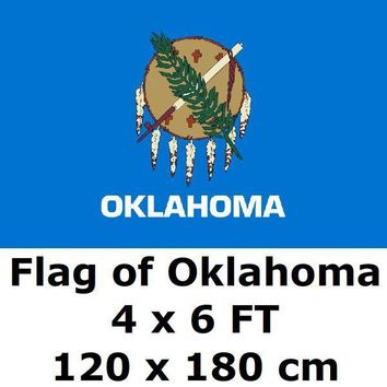 Oklahoma Flag 4X6FT 100D Polyester State of US USA American United States Flags and Banners For Home Decoration