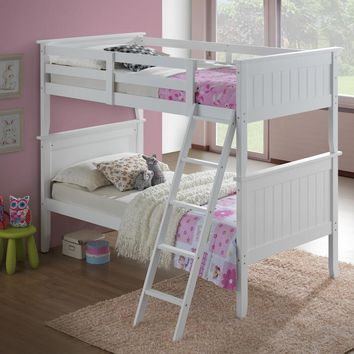 Allison White Wooden Bunk Bed