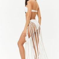 Fringe Sarong Swim Cover-Up