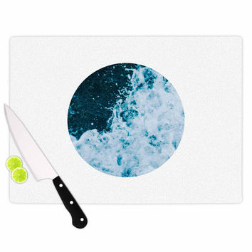 "Chelsea Victoria ""The Sea"" Nautical Blue Cutting Board"