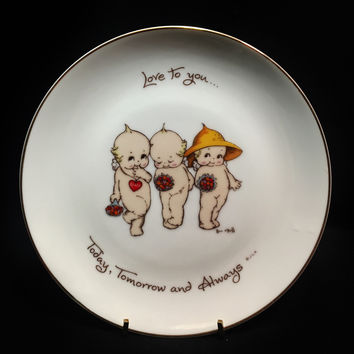 Love you Today, Tomorrow and Always Kewpie Collectors' Plate