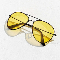 Yellow Lens Classic Aviator Sunglasses - Urban Outfitters