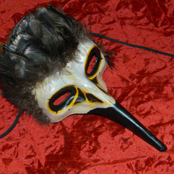 Raven or Crow Skull Mask Cosplay, LARP, Masquerade Made Upon Order