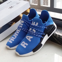"""Adidas"" NMD Human Race Blue Leisure Running Sports Shoes"