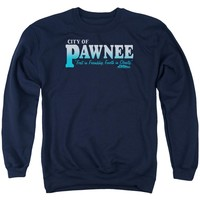 Parks And Rec - Pawnee Adult Crewneck Sweatshirt Officially Licensed Apparel