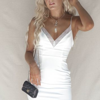 Calabasas White Bodycon Mini Dress