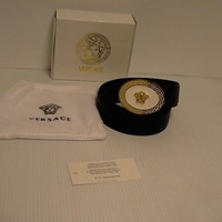 Versace belt Genuine leather Medusa head gold size 105 cm made in Italy new