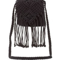 Macrame Fringe Cross-Body Purse by Charlotte Russe
