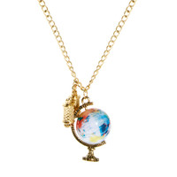 ASOS | ASOS Spinning Globe & Binoculars Charm Necklace at ASOS