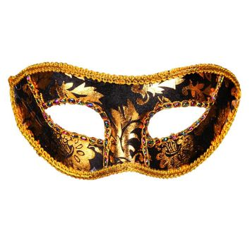 Holloween Flat Head Embroidered Lace Cloth Covered With Flat Head Paste Ball Mask Festival Mask Party Mask