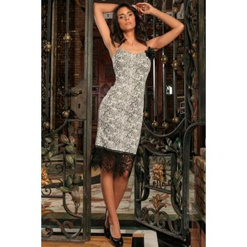 Black White Stretchy Sweetheart Bodycon Cocktail Party Dress - Women