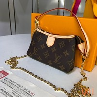 HCXX 19Aug 069 M451445 Louis Vuitton LV Baguette Bag Chain Wristlet Bag Fashion Casual Hobo Bag 15-10-3CM