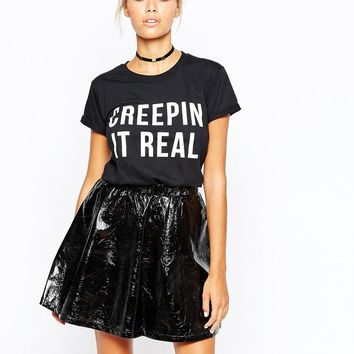 Adolescent Clothing | Adolescent Clothing Halloween T-Shirt With Creepin It Real Print at ASOS