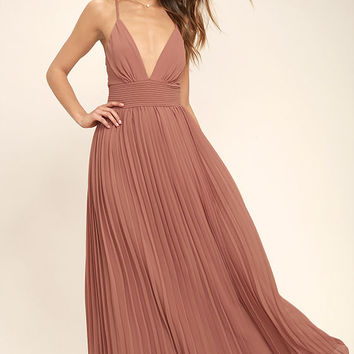 Depths of My Love Rusty Rose Maxi Dress
