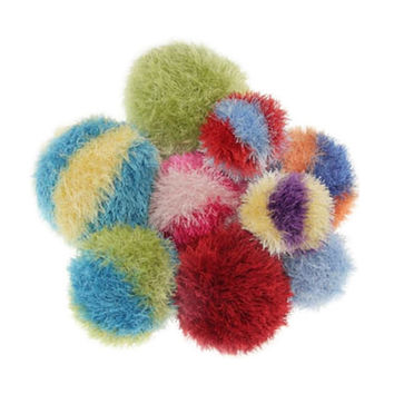 Furry Squeaky Ball Dog Toy