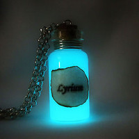 Lyrium Potion Necklace Pendant Glow in the Dark Luminous - Dragon Age Themed Jewelry Necklace - Glowing Lyrium - Mana