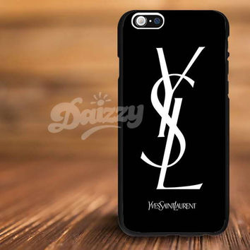 Yves Saint Laurent YSL fashion For iPhone 4/s, 5/s, 5c,6, 6+ and Samsung S3, S4, S5 Case Plastic or Rubber