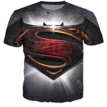 Superman VS Batman 3D T Shirt