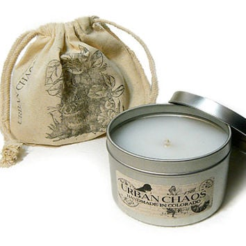 Scented Candles 8oz Tin - Soy Candles - Rustic Candles - Candles for Women - Man Candles - Unique Handmade Gifts by Urban Chaos