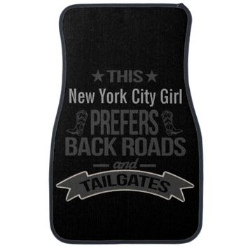 Personalized Prefers Back Roads and Tailgates Car Mat