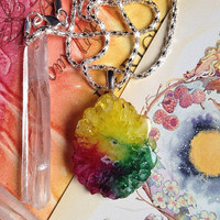 Rainbow Solar Quartz necklace