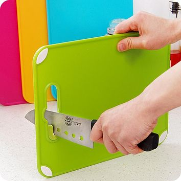 Sharpeners Kitchen Tools Creative Plastic Cutting Board Food Slice Cut Portable Camping Outdoor Chopping Board Cooking Mat Tool