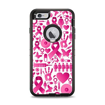 The Pink Collage Breast Cancer Awareness Apple iPhone 6 Plus Otterbox Defender Case Skin Set