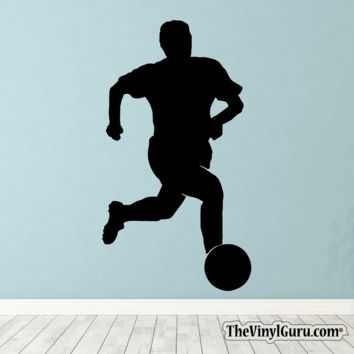 Soccer Wall Decal - Man Futbol Player Sticker #00025