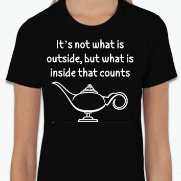 Disney It's Not What's On the Outside, but What is on the Inside that Matters (Multi-Color Choices) Womens T-Shirt