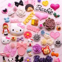 Decoden Kawaii Resin Cabochon Assortment Assorted Pack Sophie & Toffee Cabochons Starter Pack (20pcs)